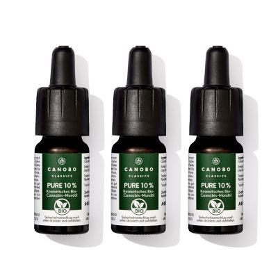 3er Set Pure 10% Bio CBD Öl
